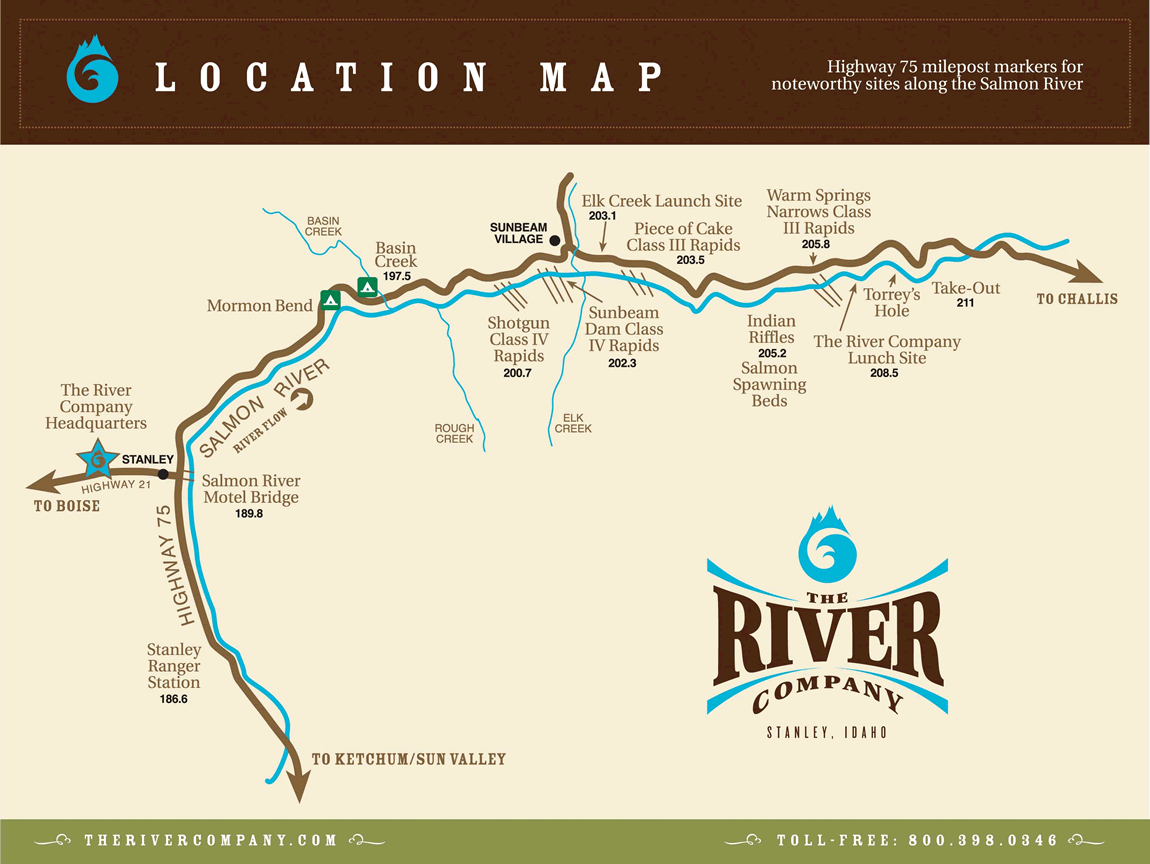 Directions and a Map to The River Company in Stanley Idaho on sawtooth national recreation area, clearwater river, bruneau river idaho map, wallace idaho map, coeur d'alene, kootenay river, selway river map, clearwater river idaho map, idaho county map, salt river, detailed idaho road map, the river wild, salmon id, sawtooth range, middle fork salmon river, idaho lakes map, clark fork, lewiston idaho map, pend oreille river, deep creek idaho map, rivers in idaho on map, idaho back road map, boise idaho map, hells canyon idaho map, lake pend oreille, coeur d'alene idaho map, snake river, borah peak, spokane river, clark fork river idaho map, idaho falls, salmon idaho map google, devils creek idaho map, idaho highway map, columbia river map, hells canyon,